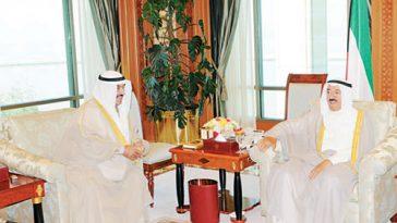HH The Amir Sheikh Sabah Al-Ahmad Al-Sabah With HH The PM Sheikh Nasser Al- Mohammad Al-Sabah