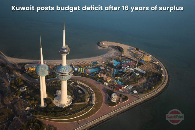 Oil rich Kuwait posts budget deficit after 16 years of surplus