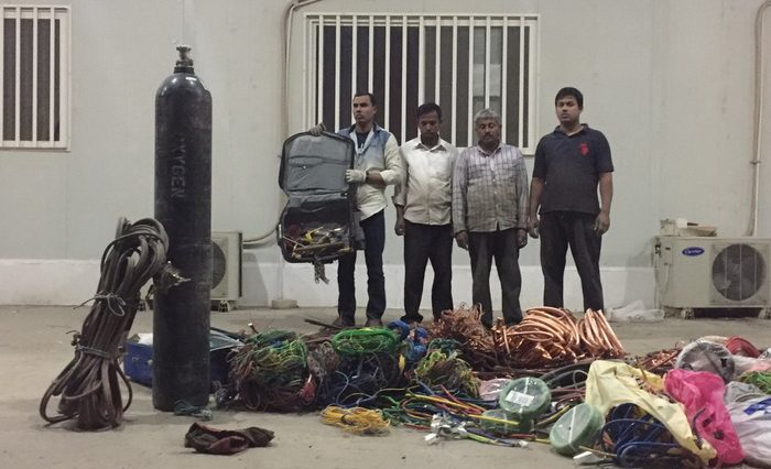 Cable theft Bangladeshi gang arrested