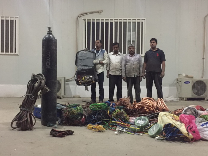 Cable theft Bangladeshi gang arrested