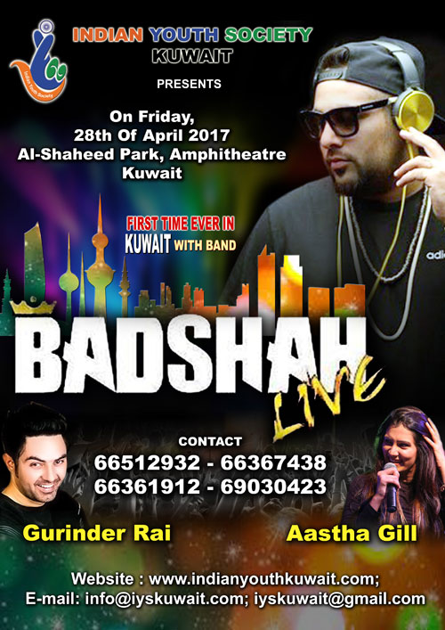 King of Rap Badshah is all set to make his first ever live performance in Kuwait